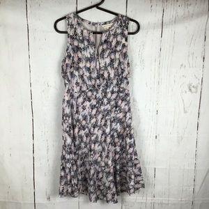 Rebecca Taylor Silk Ruffle bottom Dress